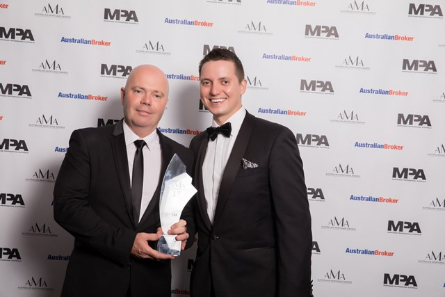 Bankwest aggregator BDM of the year - Vow Financial - Peter Bryant - Stewart Saunders